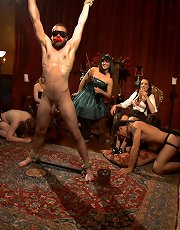 40 women gangbang slaveboy for Bobbi Starr's birthday LIVE and PUBLIC